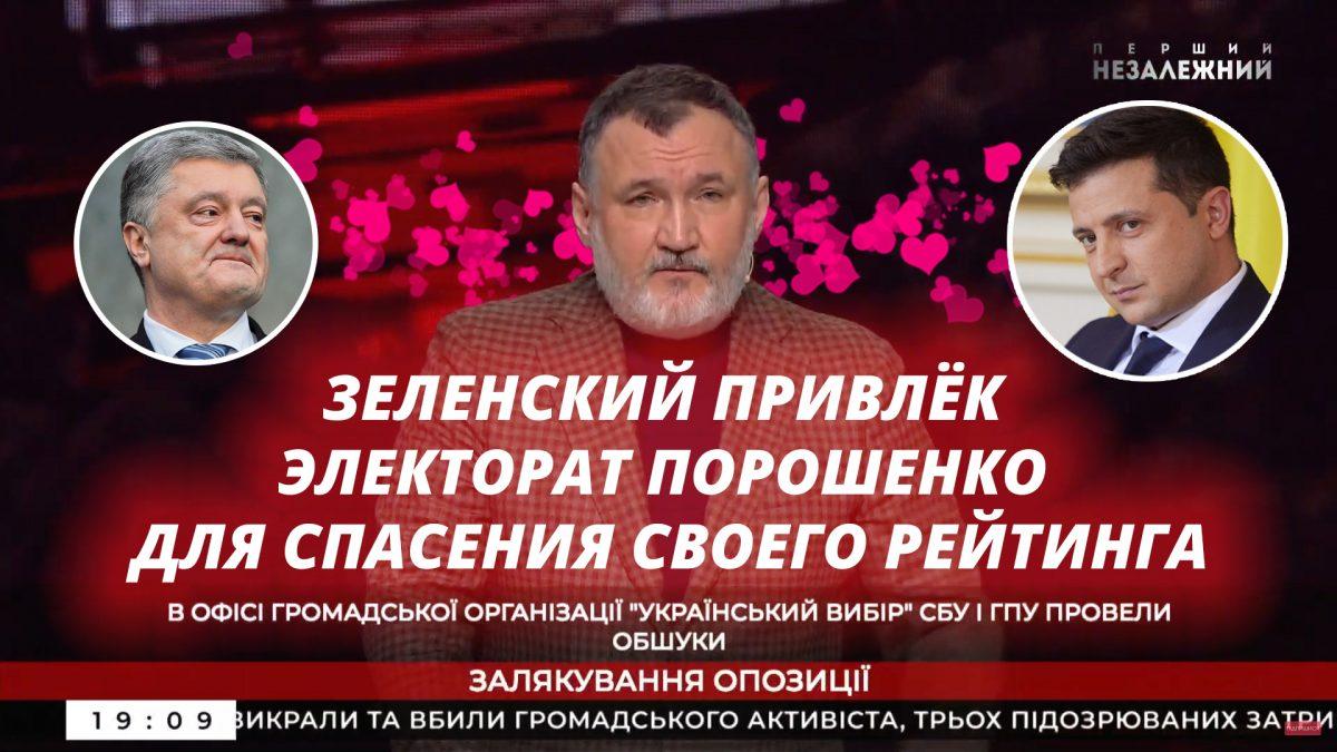 Зеленский привлёк электорат Порошенко для спасения своего рейтинга